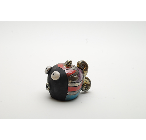 Funny ceramic fish - Poisson boule H.8cm