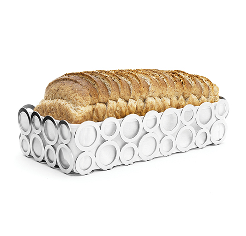 Rectangular stainless steel bread basket - Panier a pain 14x27cm