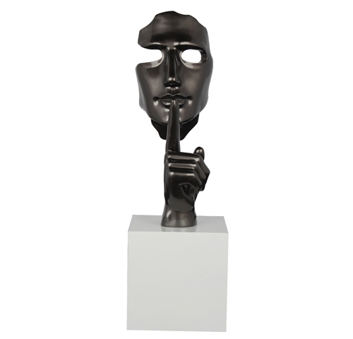 """The secret"" decorative sculpture - ""Chut!..."" sculpture decorative H.58cm"