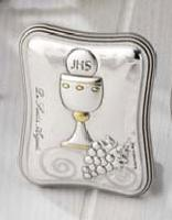 Sterling silver communion icon - Icone 1ère communion argent massif