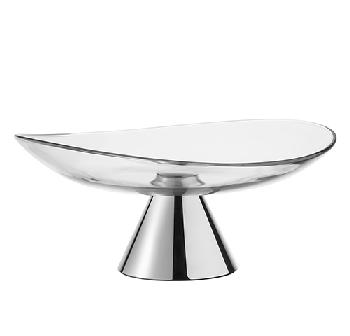 Silver plated fruit holder - Coupe sur pied argent 40cm